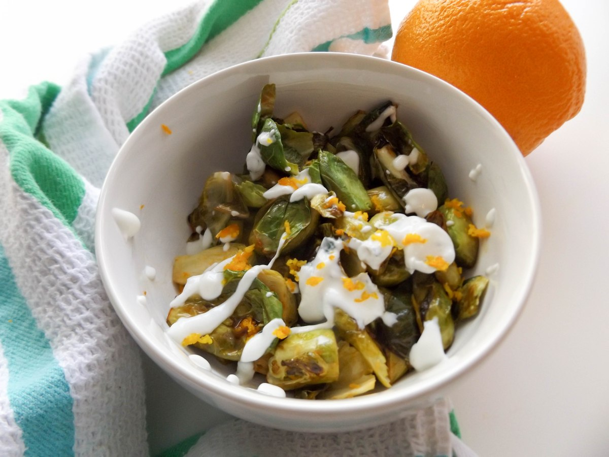 Orange Brussels with mint yogurt (1 of 1)