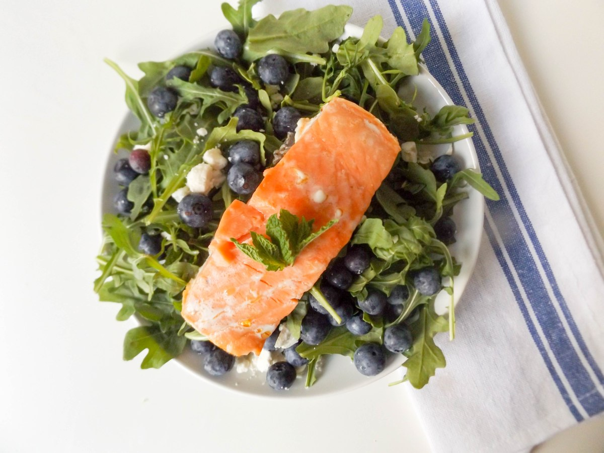 blueberry mint feta salad with salmon (1 of 1)-14