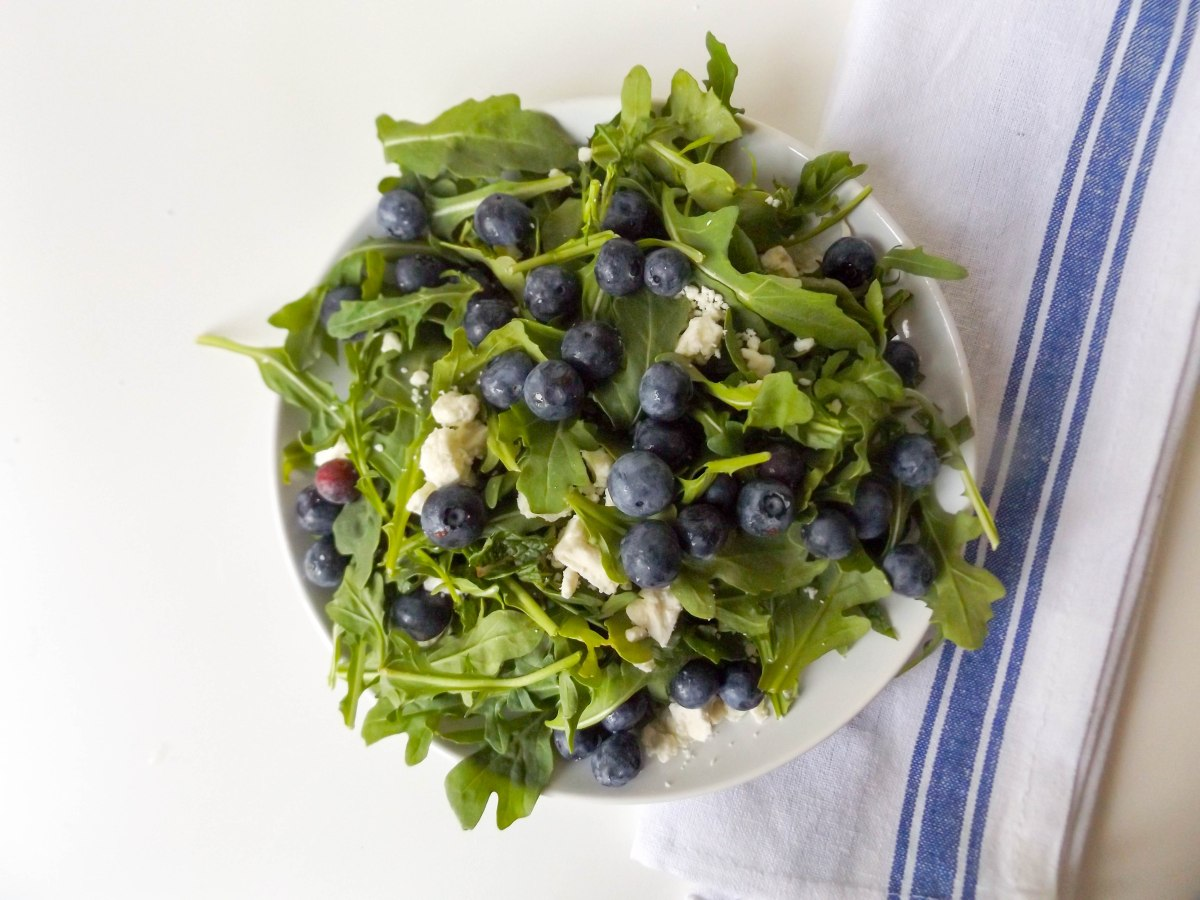 blueberry mint feta salad with salmon (1 of 1)-7