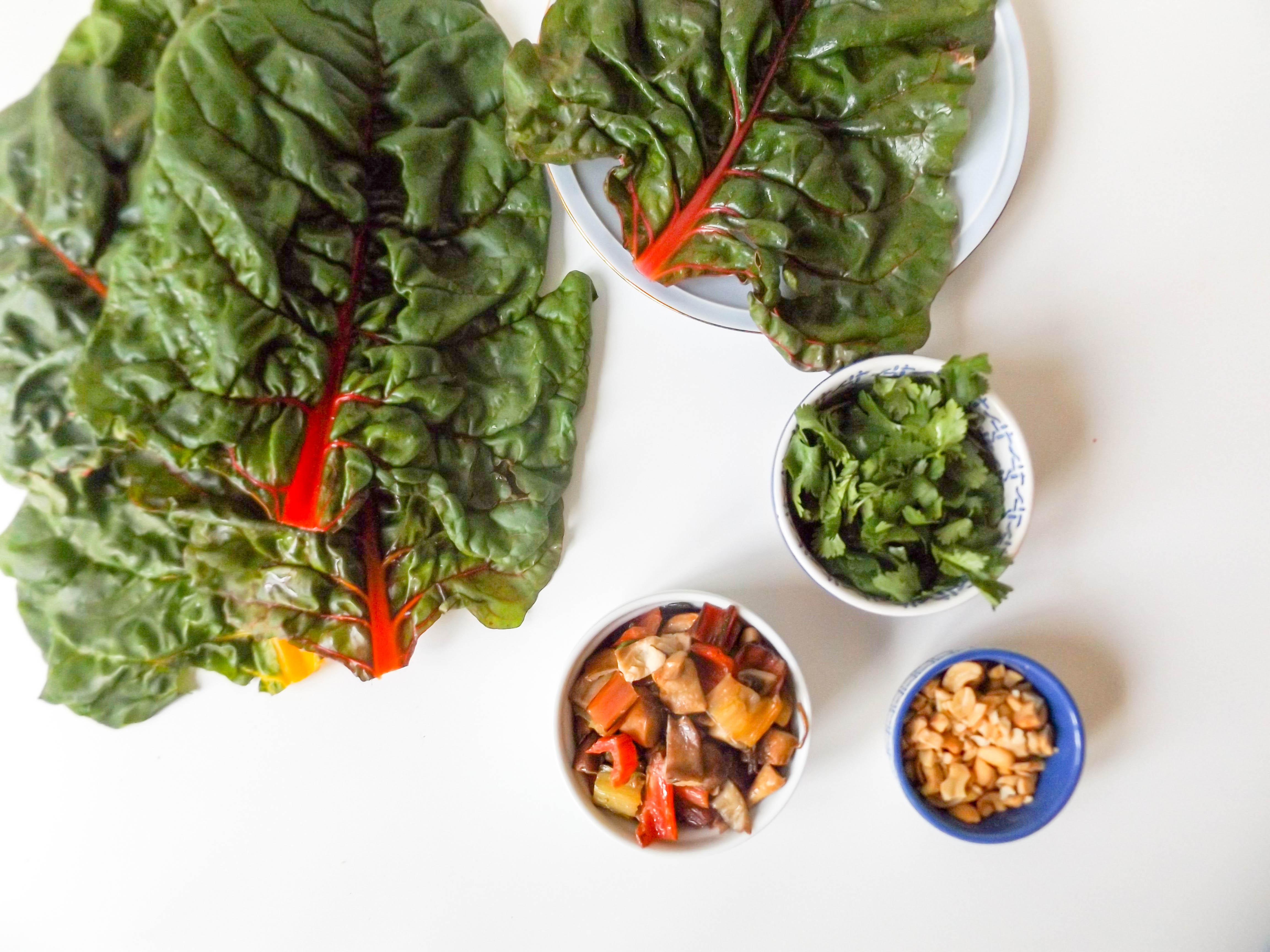 Mushroom & Swiss Chard Lettuce Wraps