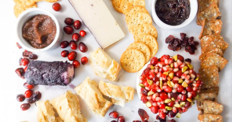 Cranberry Pomegranate Pistachio Baked Brie & cheese plate