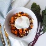 Root Vegetable Hash & Egg