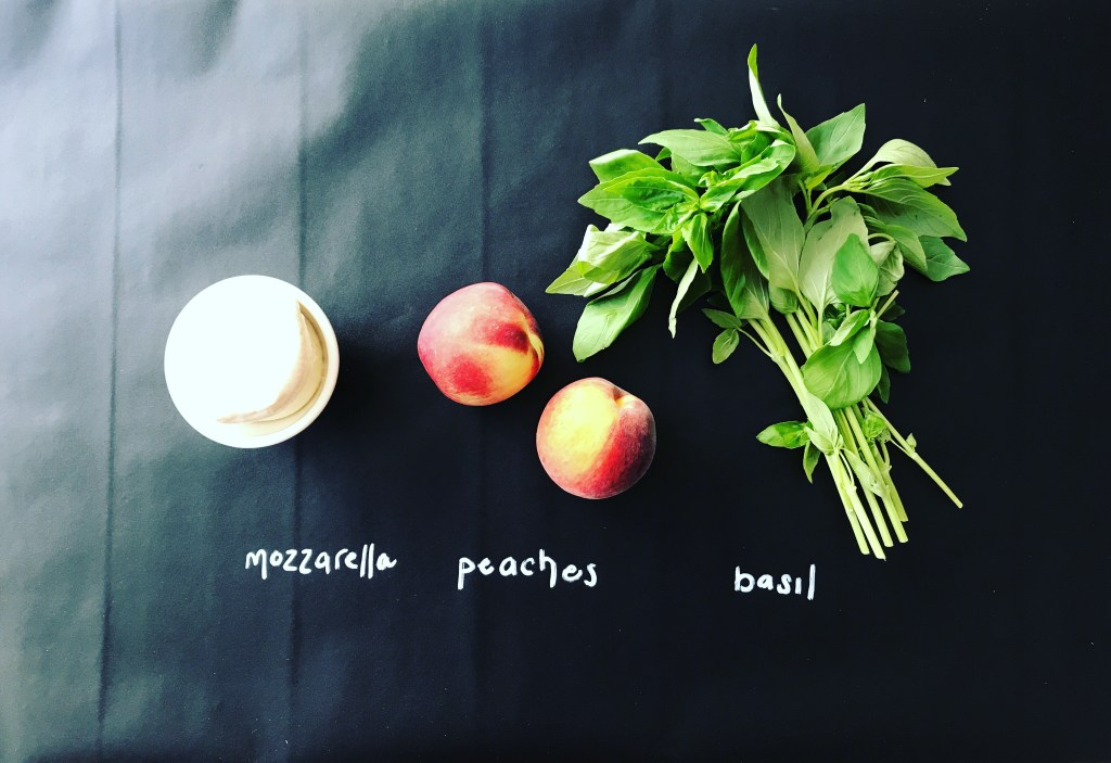 Grilled Peach Caprese