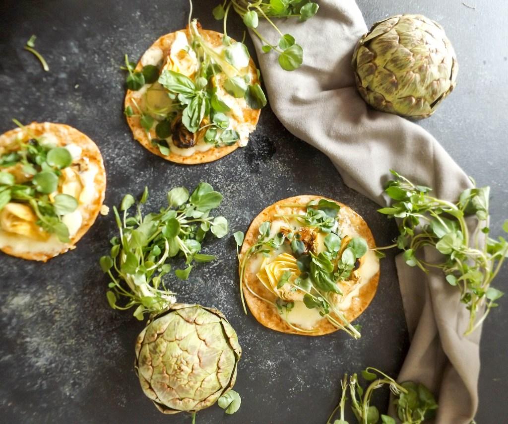 Spinach & Artichoke Flatbread Pizza