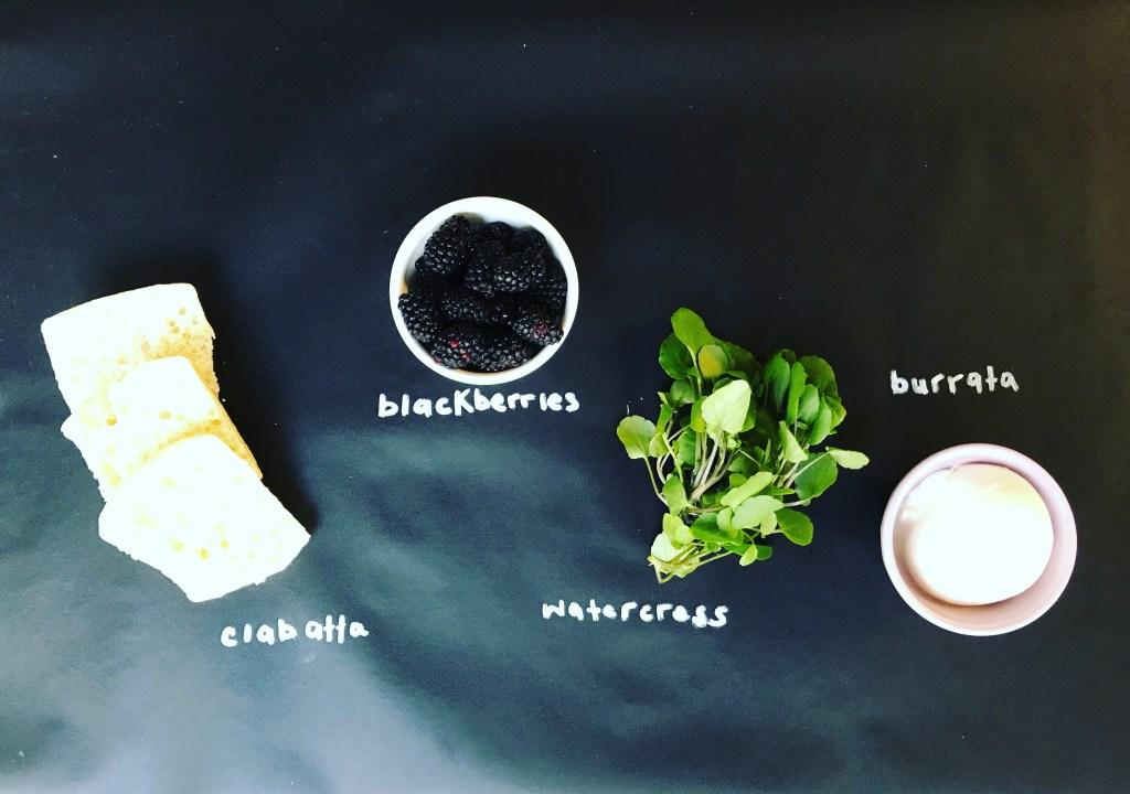 Blackberry Burrata Crostini