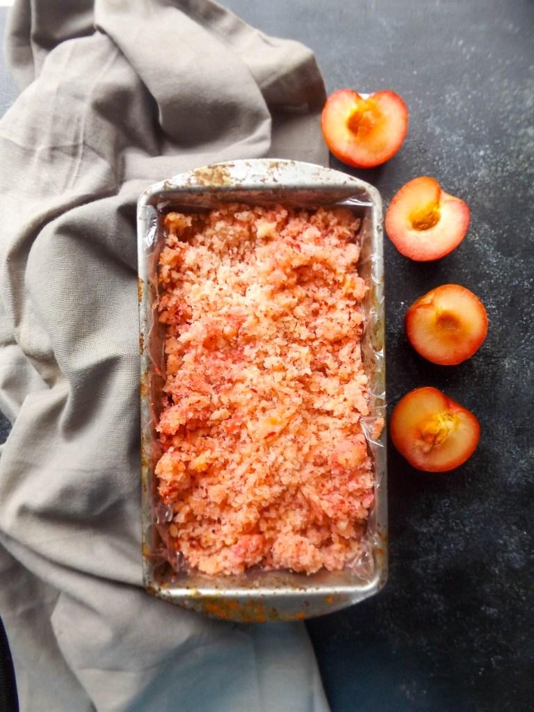 plum apricot granita
