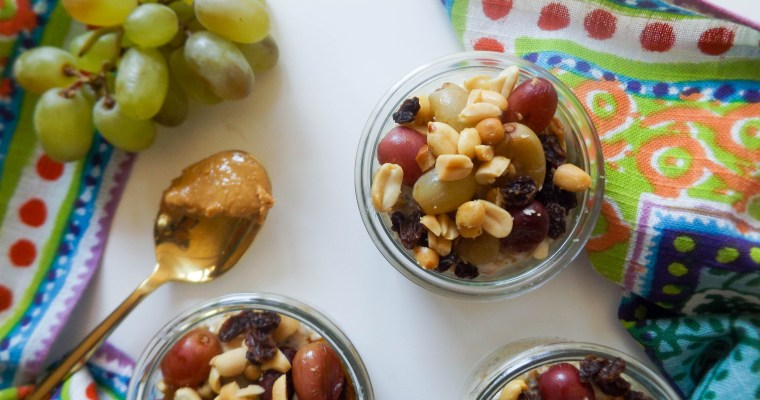 PB & Grape Overnight Oats
