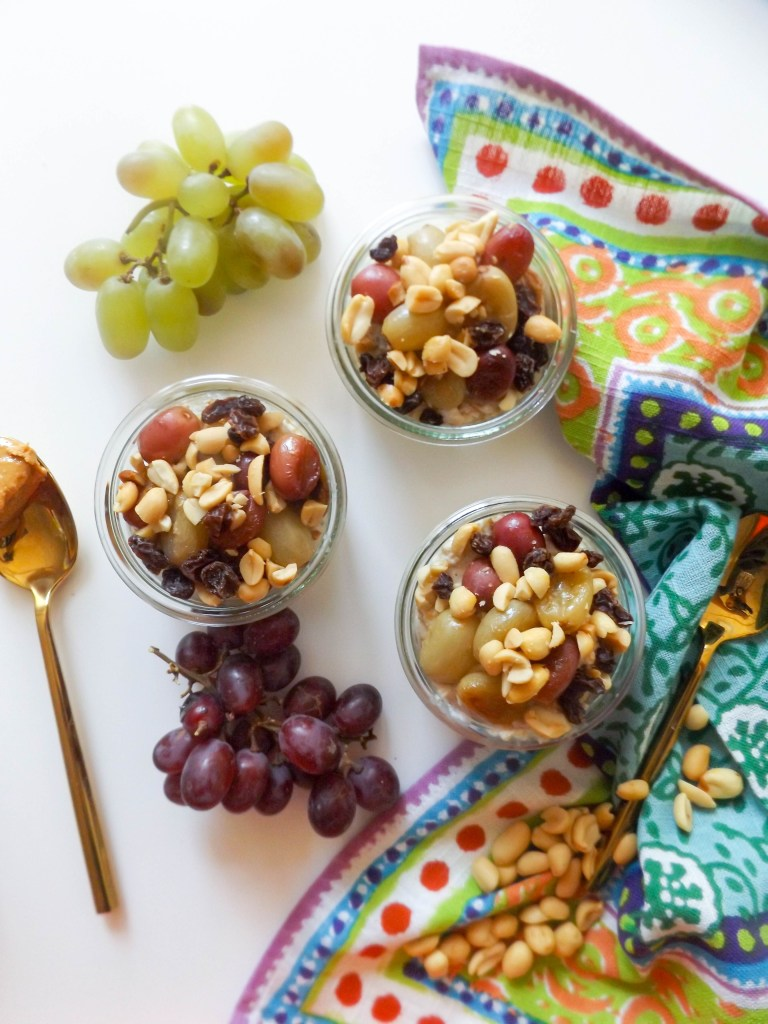 PB & Grape Overnight Oats
