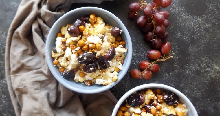 Roasted Cauliflower, Chickpeas & Grapes