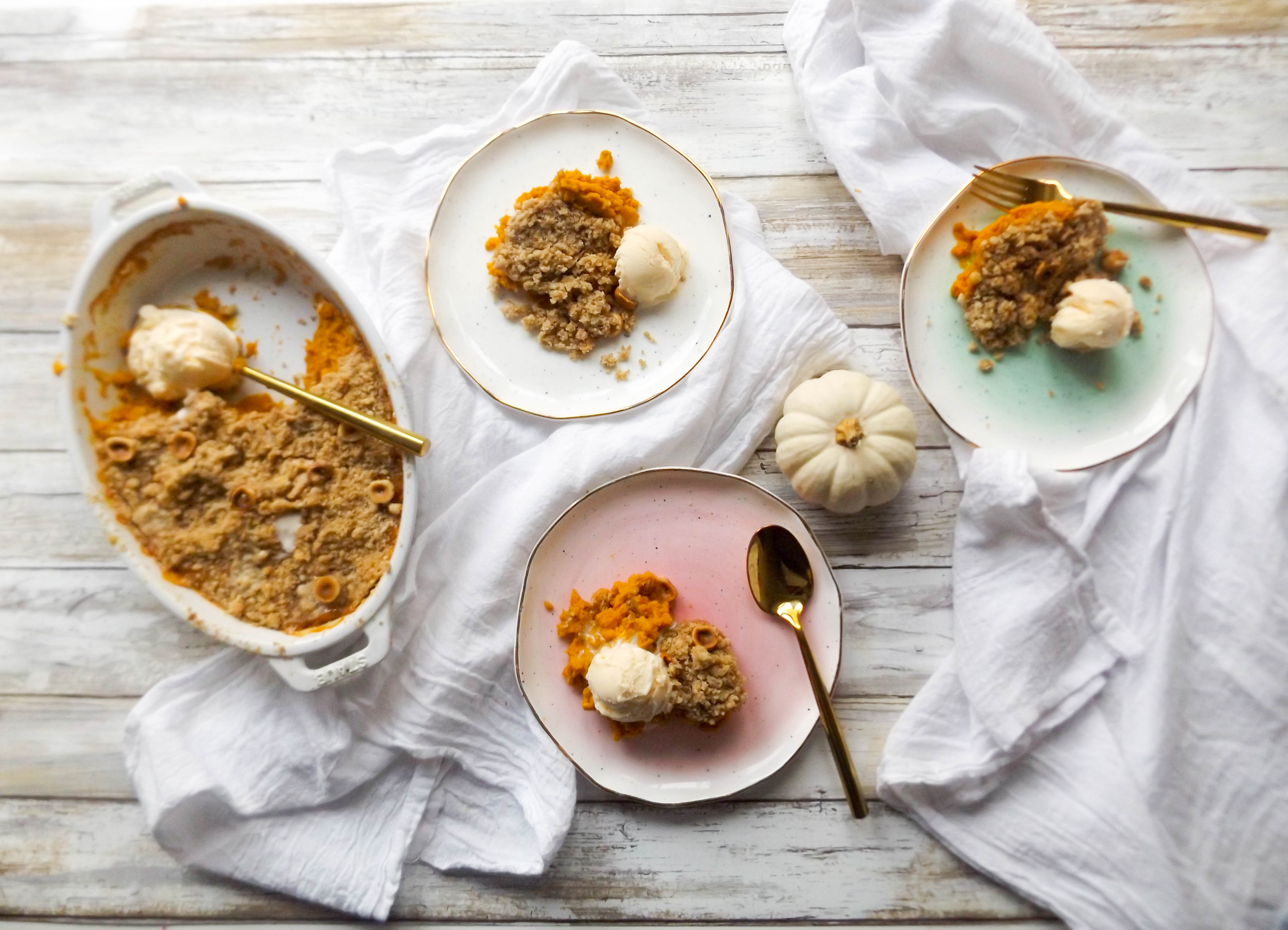 Pumpkin Hazelnut Crumble