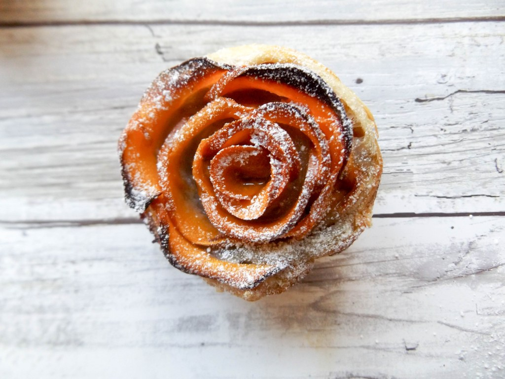 Persimmon Rose Pastry