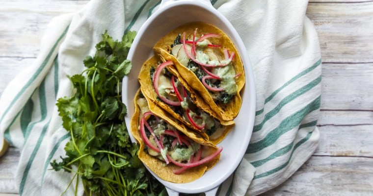 Creamy Kale and Potato Tacos