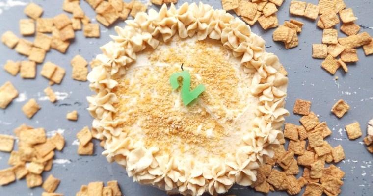 Year 2 Blogiversary & Tessa Huff's Cinnamon Toast Crunch Cake