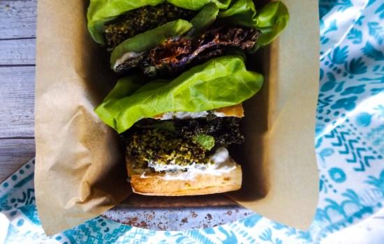 Cauli-Kale-Quinoa Veggie Burgers