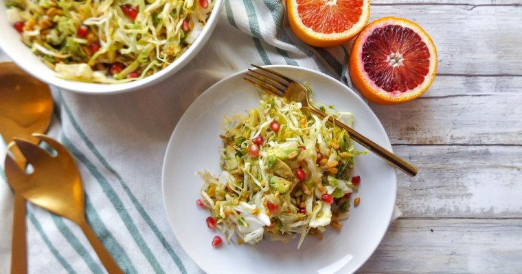 Farro Slaw Salad with Blood Orange Vinaigrette