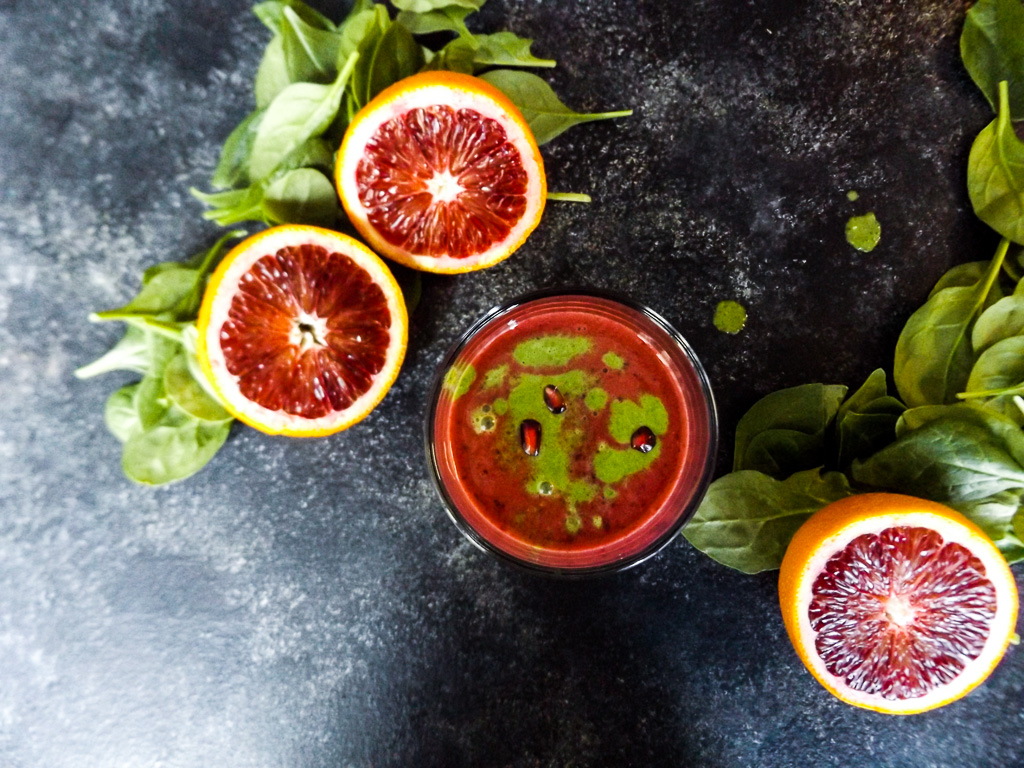 Berry Citrus Green Almond Smoothie