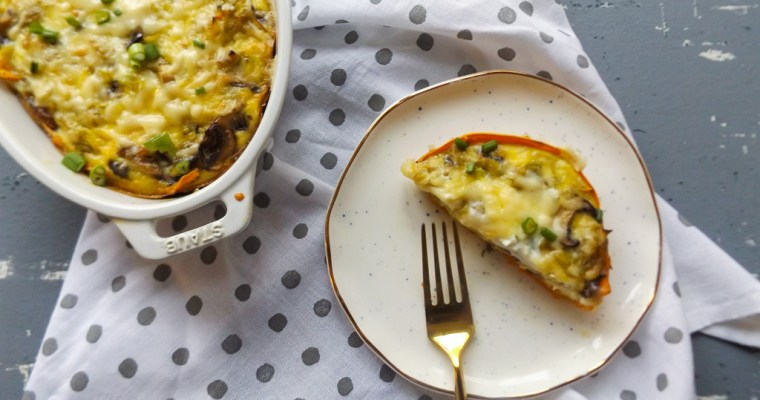 Leek Quiche with Sweet Potato Crust
