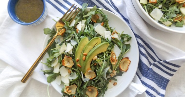 Sunchoke & Green Apple Arugula Salad