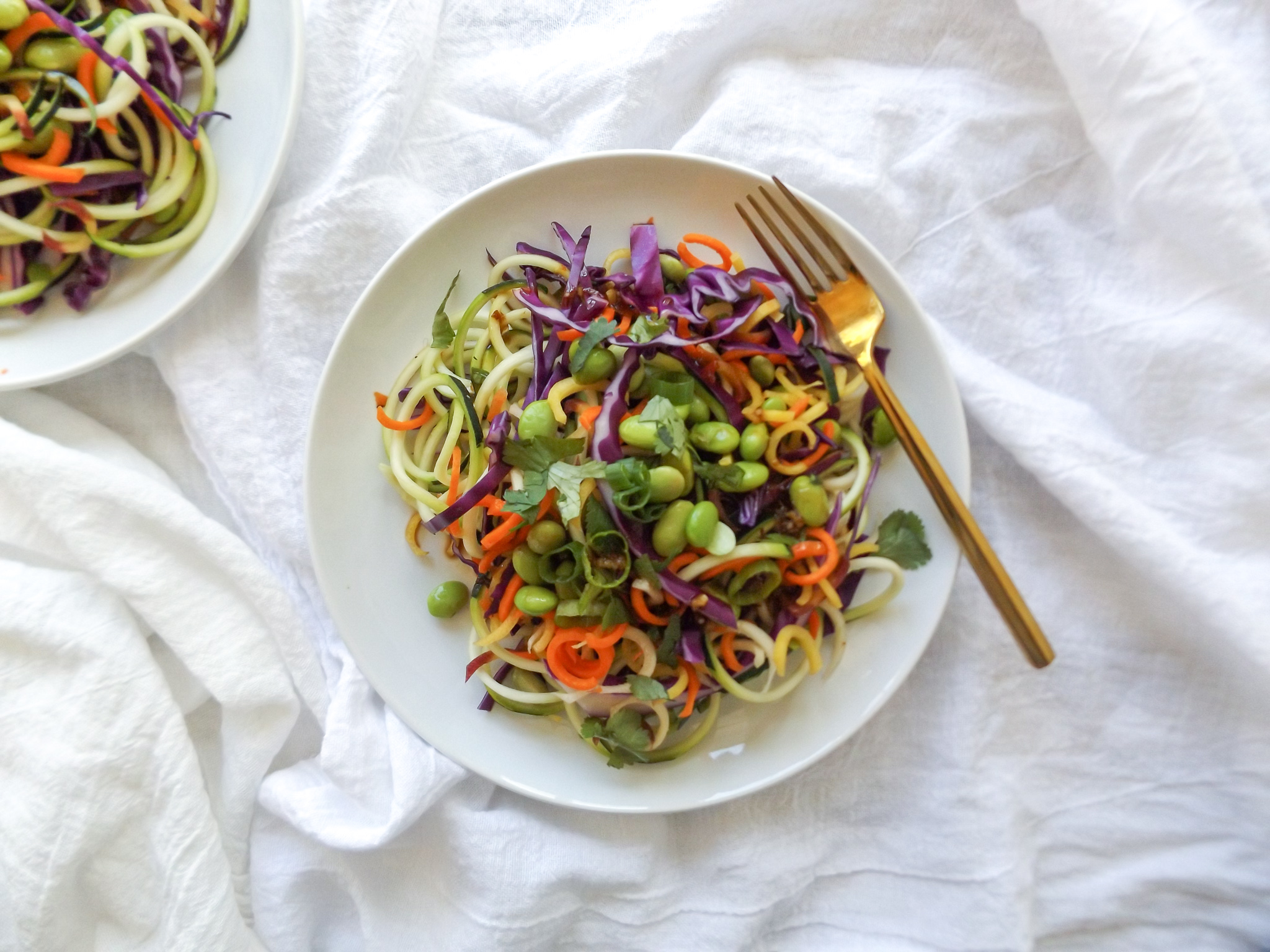 Spiralized Raw Asian Veggie Salad