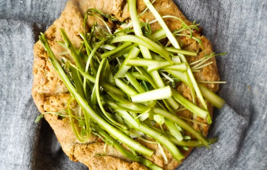 Ricotta and Raw Asparagus Galette
