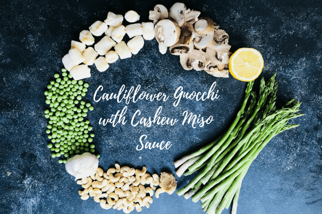 Cauliflower Gnocchi with Spring Vegetables