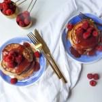 raspberry ricotta pancakes