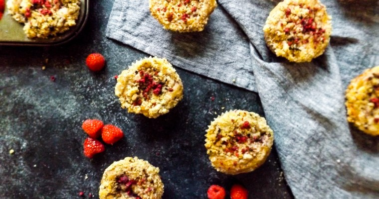 Raspberry Hazelnut Coffee Cake Muffins