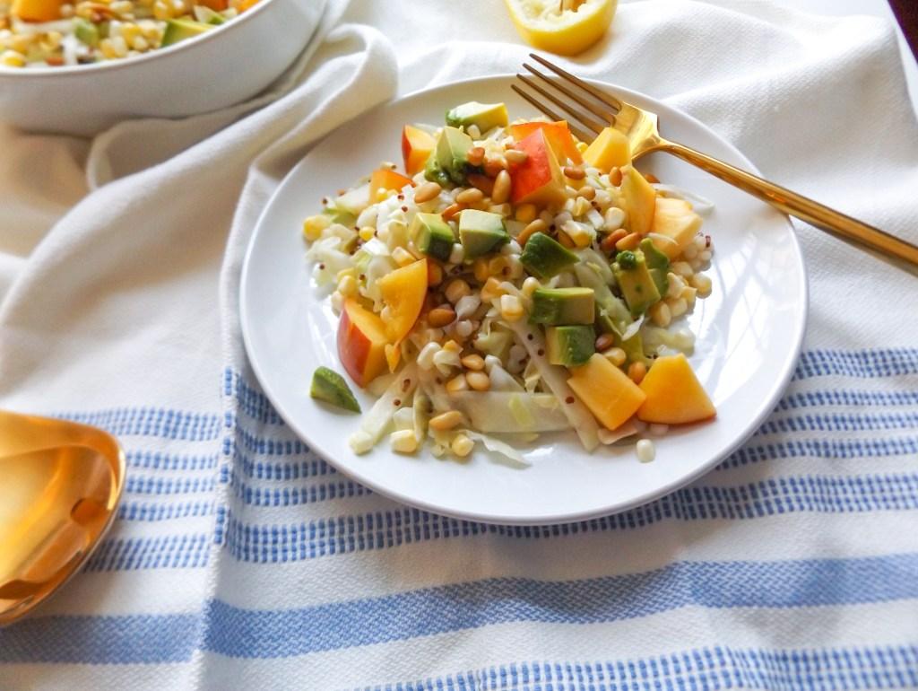 Summer Slaw Salad with Lemon Vinaigrette