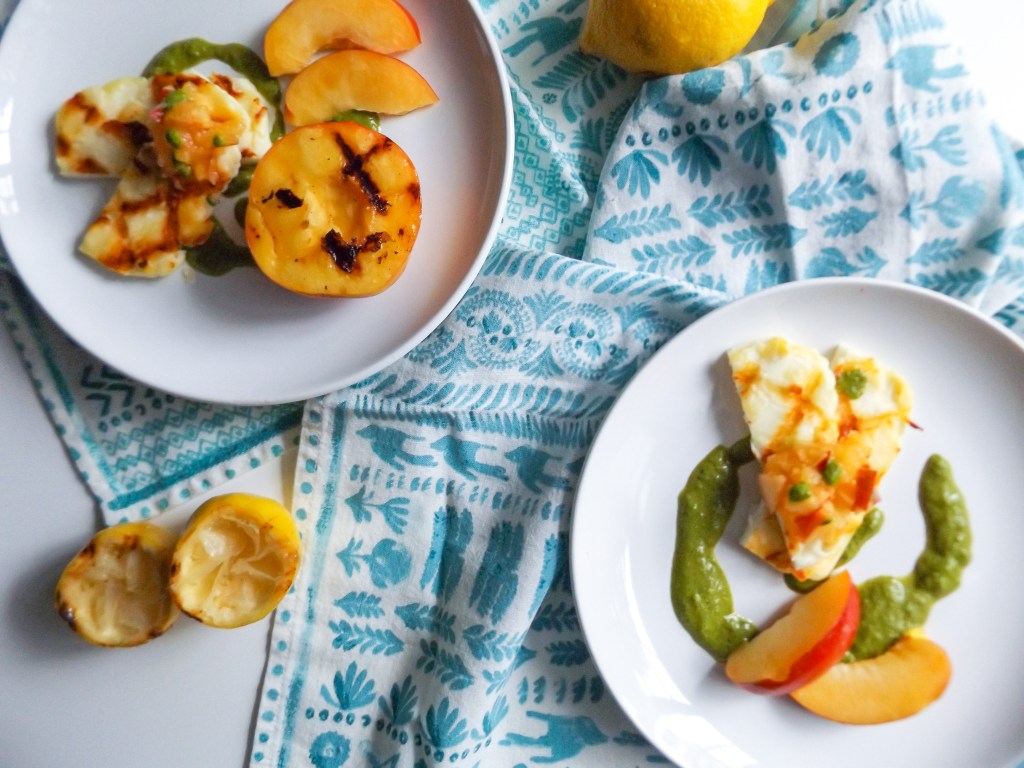 Grilled Nectarine & Halloumi