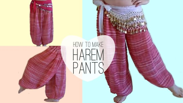 Aladdin Pants Sewing Pattern Easy Belly Dancer Harem Pants Diy Princess Jasmine Style Youtube