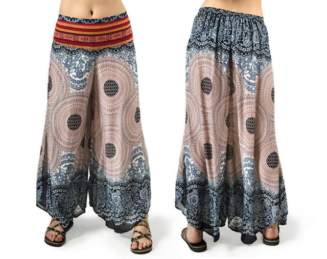 Aladdin Pants Sewing Pattern Thai Hill Tribe Pants Wide Leg Pants Yoga Pants Aladdin Pants Etsy