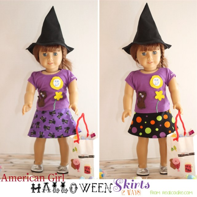 American Girl Doll Sewing Patterns Halloween Doll Skirts 2 Ways American Girl Doll Clothes Pattern