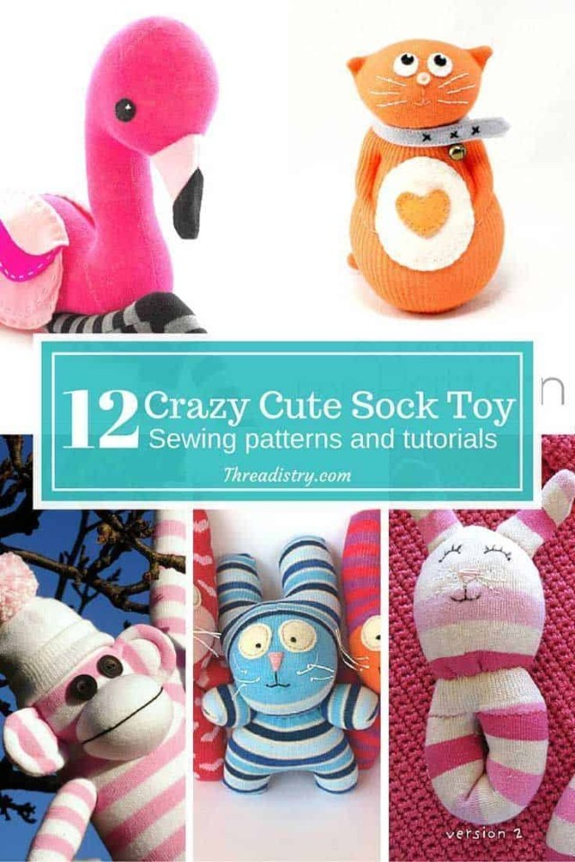 Animal Sewing Patterns Crazy Cute Sock Toy Sewing Patterns