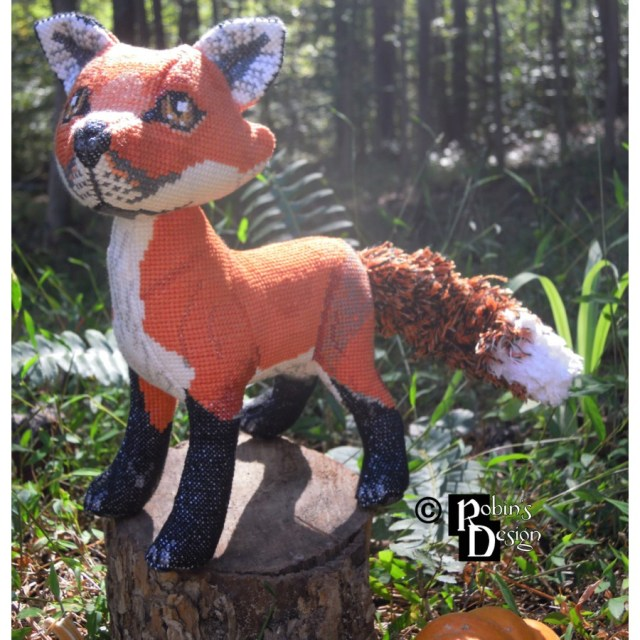 Animal Sewing Patterns Mulder The Red Fox Doll 3d Cross Stitch Animal Sewing Pattern Pdf