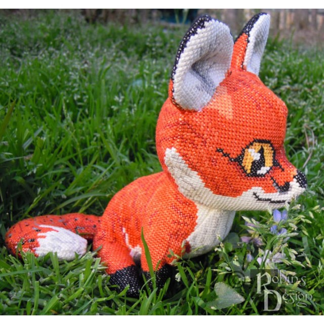 Animal Sewing Patterns Red Fox Doll 3d Cross Stitch Animal Sewing Pattern Pdf