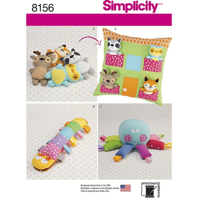 Animal Sewing Patterns Simplicity Pillow And Toys Sewing Pattern 8156 Hobcraft
