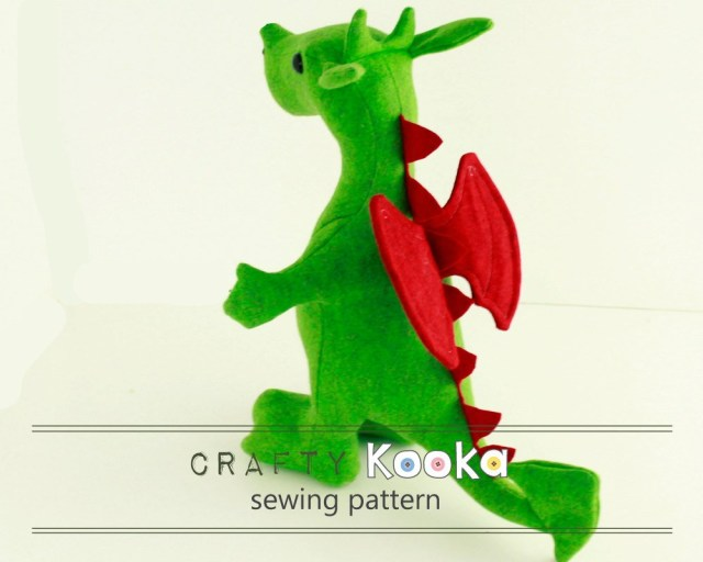 Animal Sewing Patterns Stuffed Animal Sewing Pattern Dragon Plush Sewing Pattern Dragon
