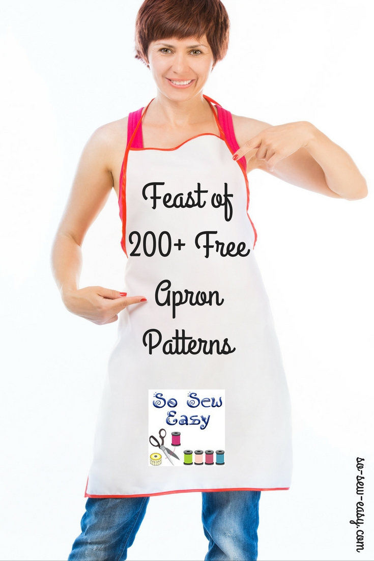 Apron Sewing Pattern An Absolute Feast Of 200 Free Apron Patterns So Sew Easy