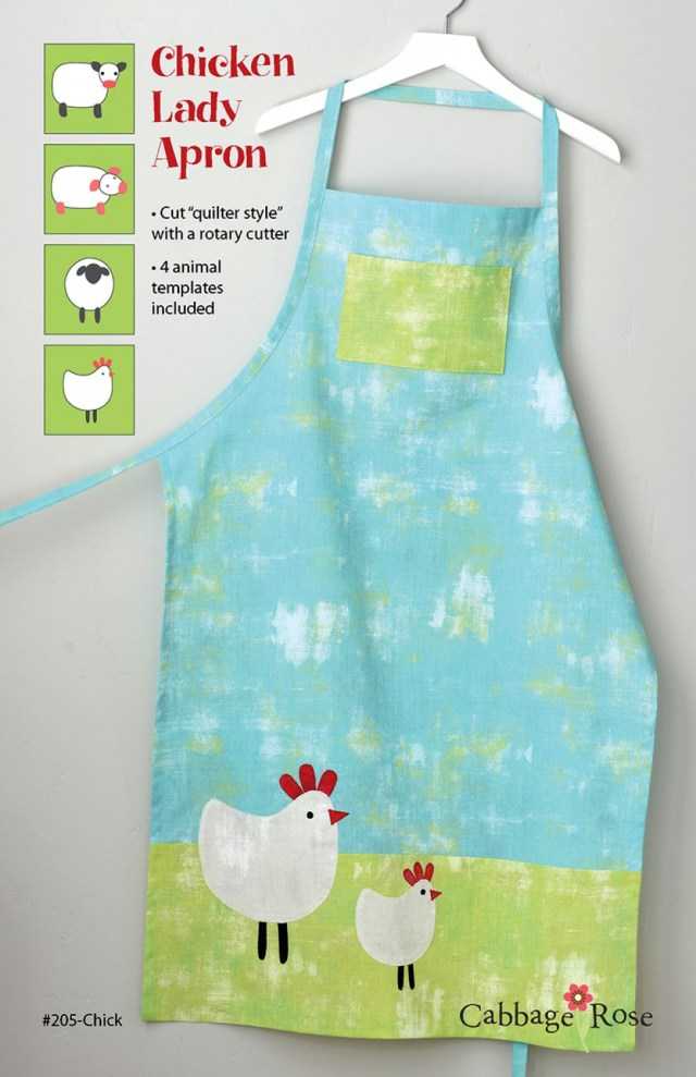 Apron Sewing Pattern Chicken Lady Apron Sewing Pattern From Cabbage Rose