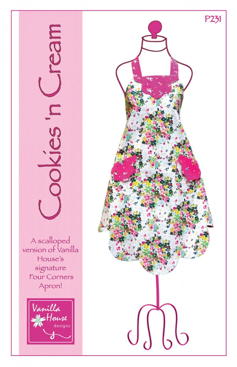 Apron Sewing Pattern Cookies N Cream Apron Sewing Pattern From Vanilla House Designs