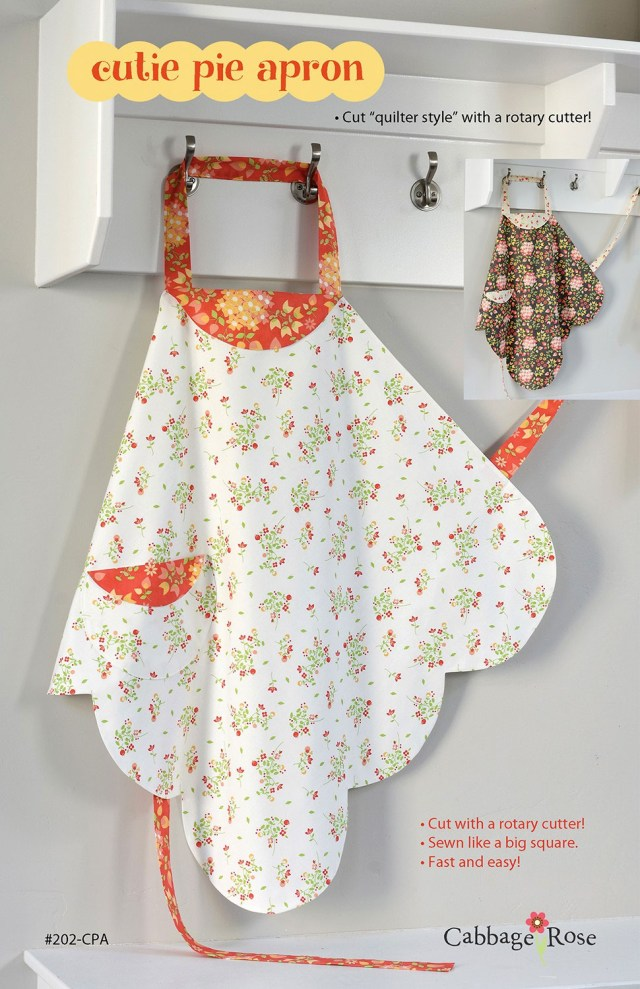 Apron Sewing Pattern Cutie Pie Apron Sewing Pattern From Cabbage Rose