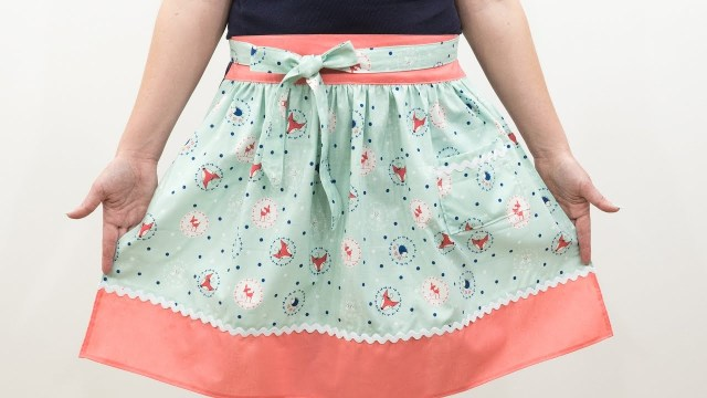 Apron Sewing Pattern How To Sew A Vintage Apron Pattern And Assembly Youtube