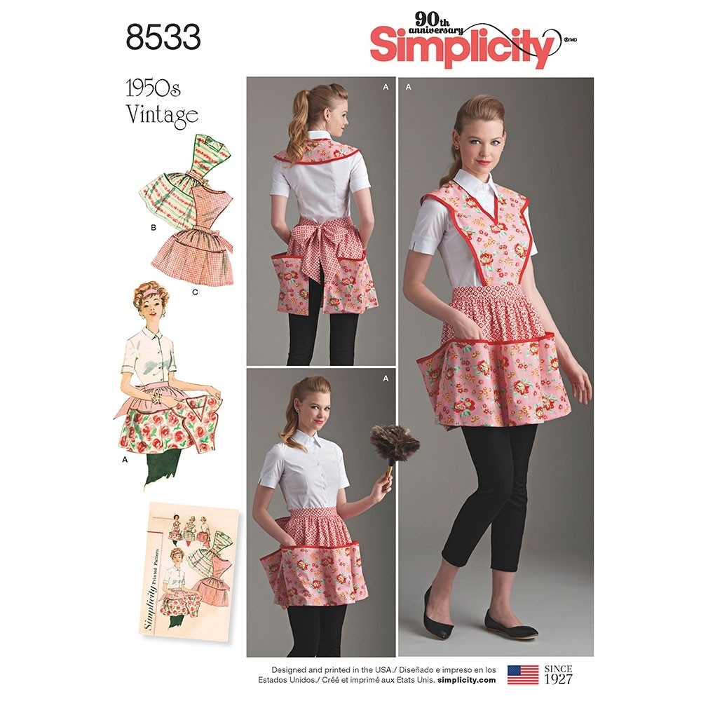 Apron Sewing Pattern Misses Vintage Apron Simplicity Sewing Pattern 8533 Sew Essential