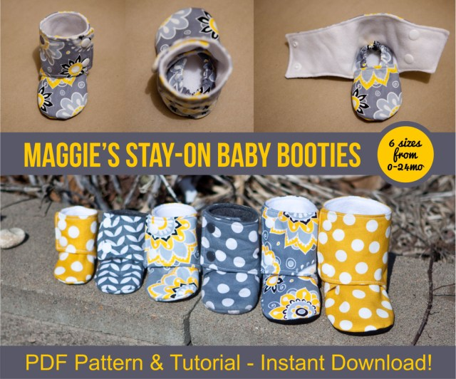 Baby Booties Sewing Pattern Maggies Stay On Ba Booties Sewing Tutorial Printable Etsy
