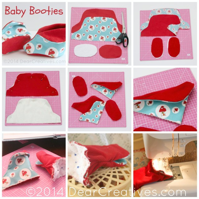 Baby Booties Sewing Pattern Quick And Easy Sewing For Ba Ba Booties Dear Creatives