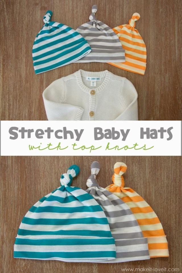 Baby Hat Sewing Pattern Ba Beanie Patterns How To Make Sew With A Top Knot Ba