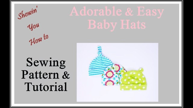 Baby Hat Sewing Pattern Easy Ba Hat Sewing Tutorial Youtube