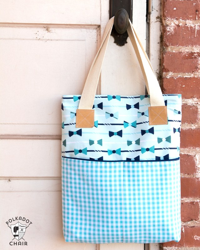 Bag Sewing Patterns A New Tote Bag Sewing Pattern The Polka Dot Chair