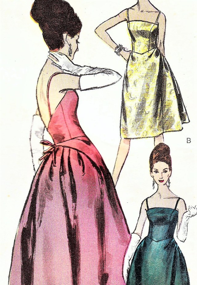 Ball Gown Sewing Patterns 1960s Glamorous Evening Gown Cocktail Dress Pattern Vogue Special
