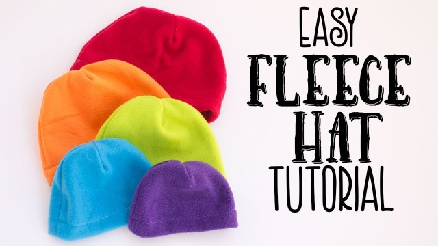 Beanie Hat Pattern Sewing Easy Fleece Hat Tutorial Free Pattern Youtube